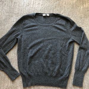 Gap all cashmere sweater gray sz large